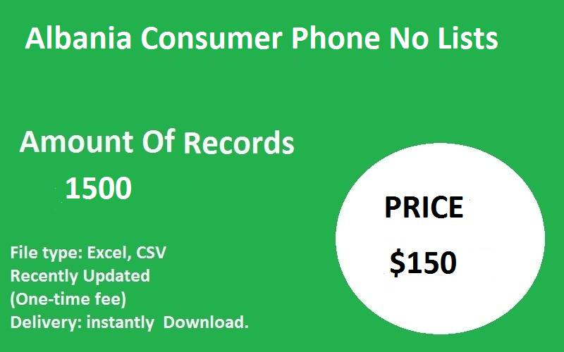 Albania Consumer Phone No Lists