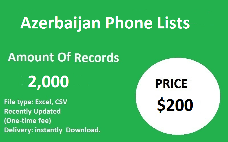 Azerbaijan Phone Lists