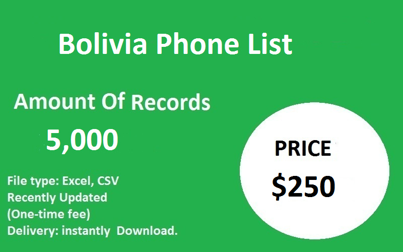 Bolivia Phone List