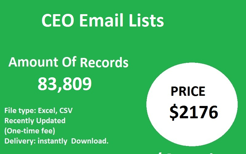 CEO Email Lists