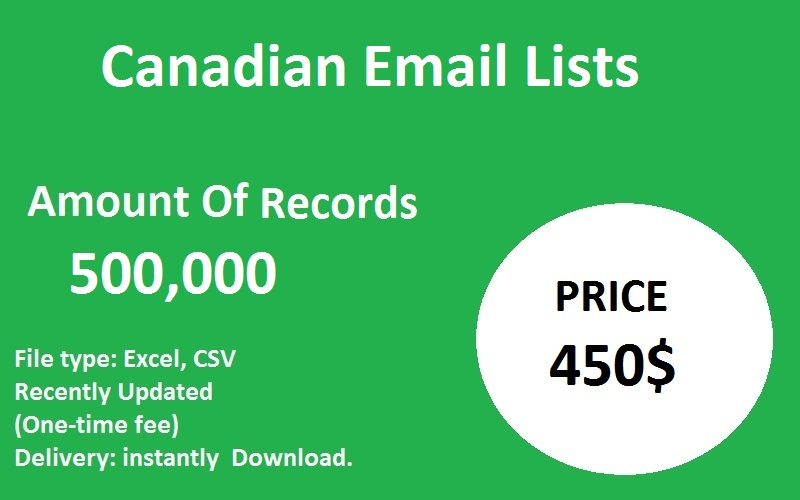 Canadian Email Lists