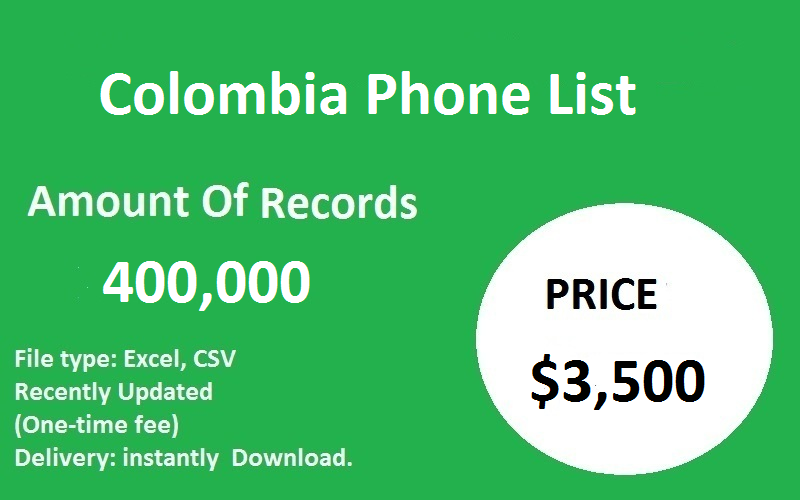 Colombia Phone List