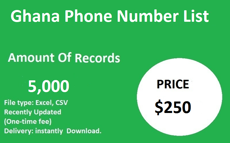 Ghana Phone Number List