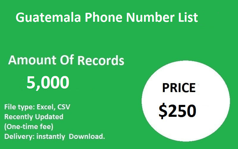 Guatemala Phone Number List