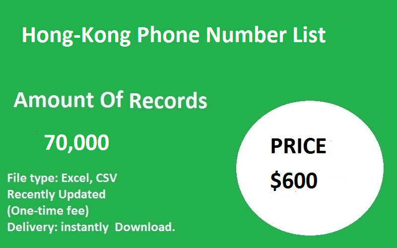 Hong-Kong Phone Number List