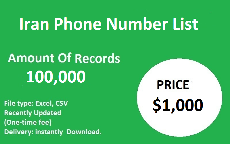 Iran Phone Number List