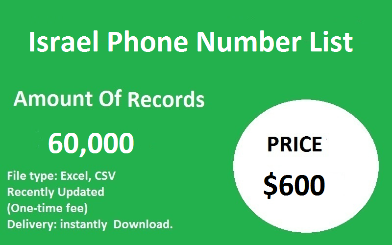 Israel Phone Number List