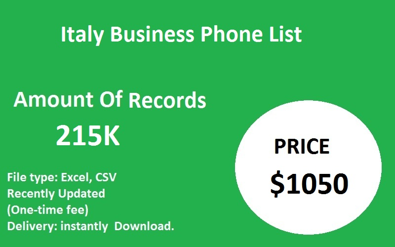 Italy Business Phone List