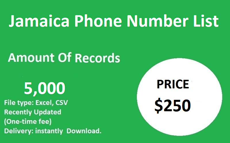 Jamaica Phone Number List