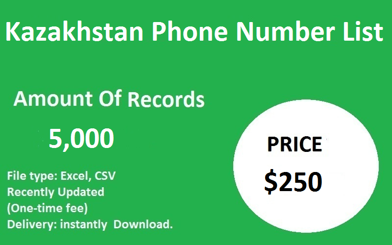 Kazakhstan Phone Number List