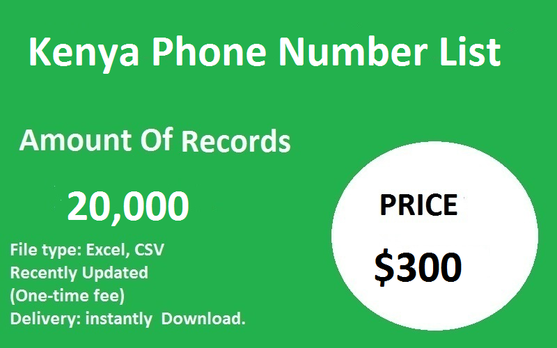 Kenya Phone Number List