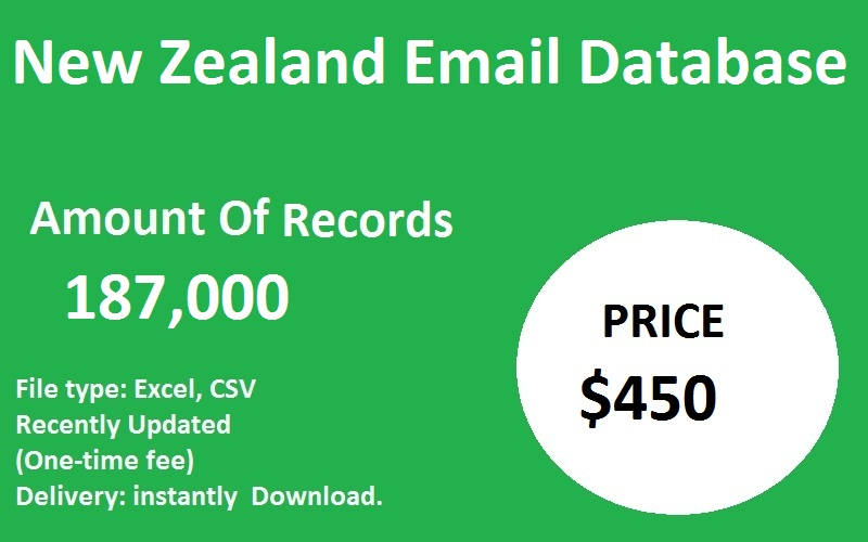 New Zealand Email Database