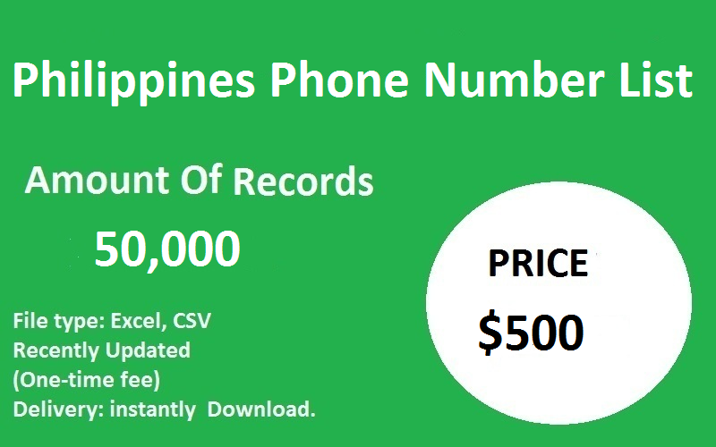 Philippines Phone Number List