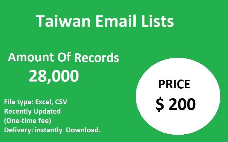 Taiwan Email Lists